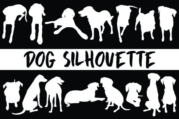 Dog Silhouette Graphic By geadesign