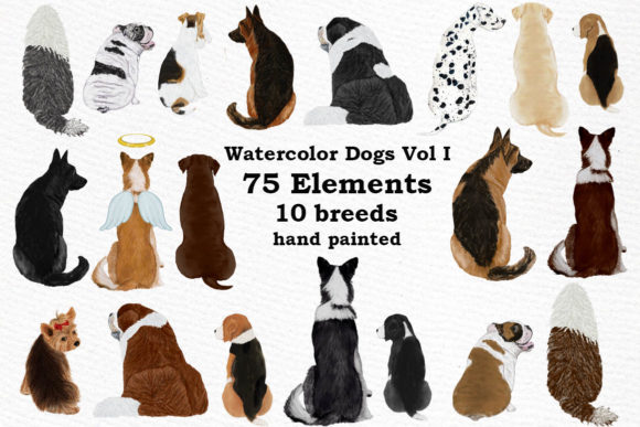 Dogs Clipart Graphic Crafts By LeCoqDesign