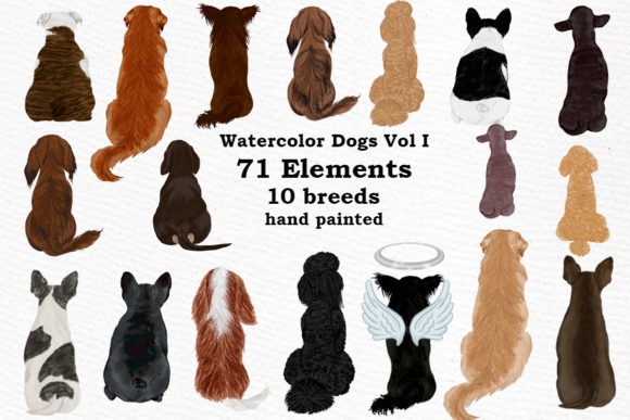 Dogs Clipart Graphic Illustrations By LeCoqDesign