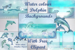Dolphins Backgrounds & Clipart Bundle Graphic By The Paper Princess