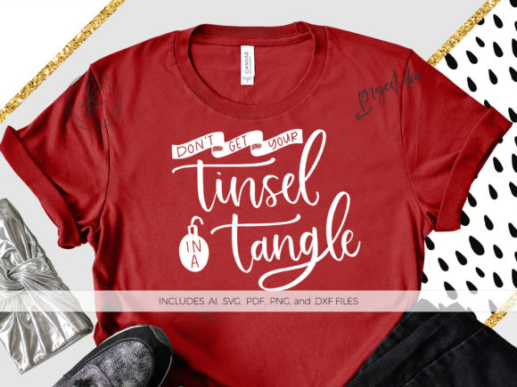 Download Free Don T Get Your Tinsel In A Tangle Graphic By Beckmccormick for Cricut Explore, Silhouette and other cutting machines.