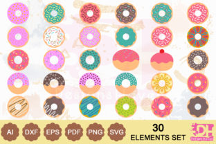 Donuts Cake Bundle Graphic By DesignsHavenLLC