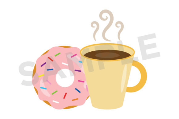 Donuts & Coffee Clip Art Set Graphic By Running With Foxes Image 4