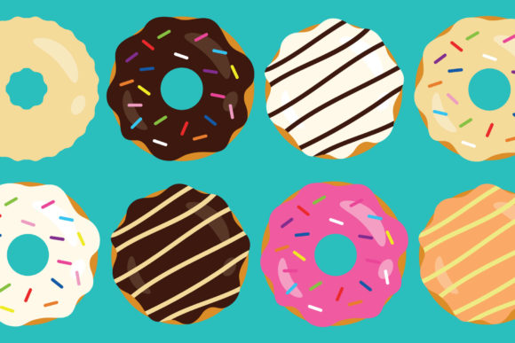 Print on Demand: Donuts & Coffee Clip Art Set Graphic Objects By Running With Foxes
