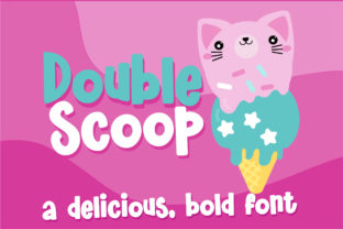 Double Scoop Script & Handwritten Font By Illustration Ink