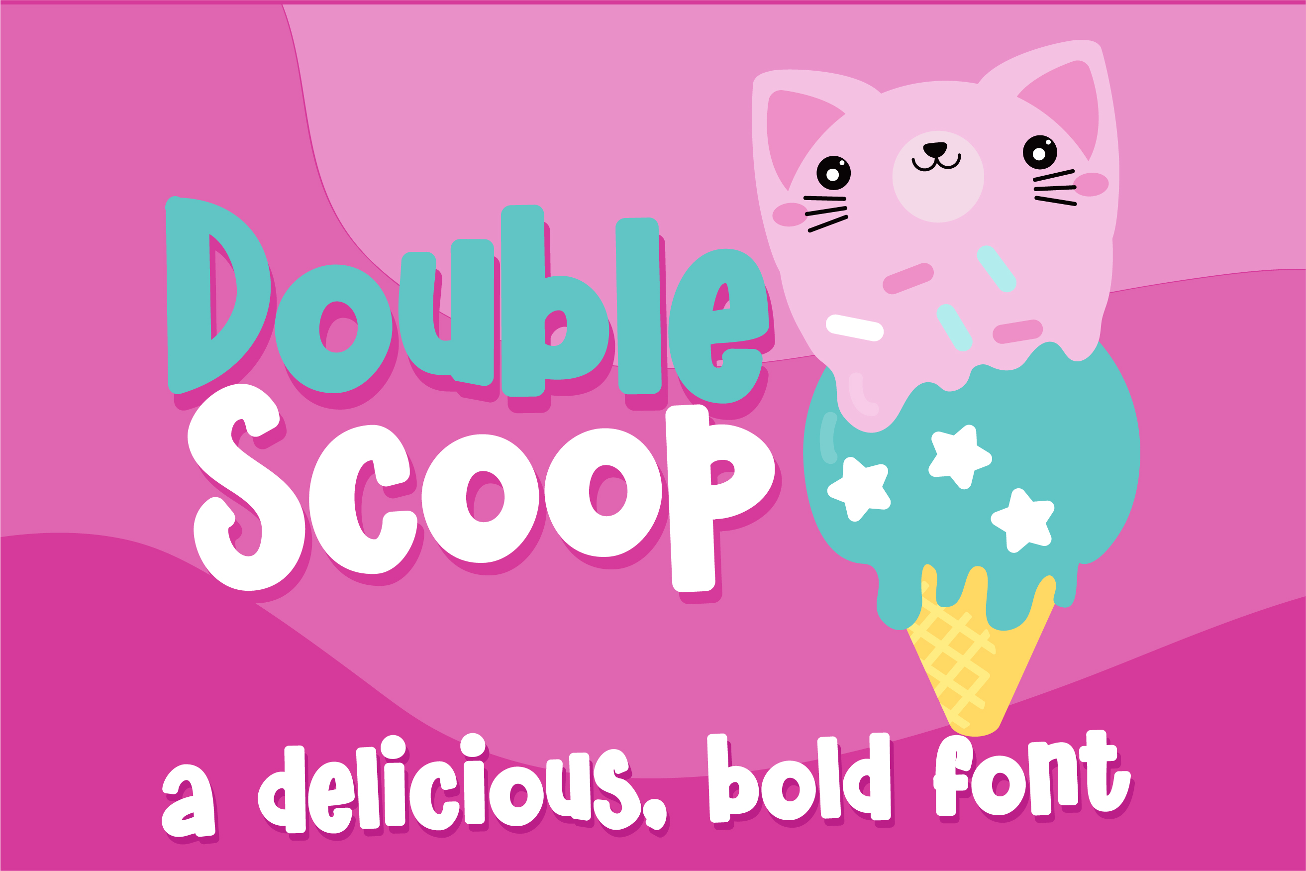 Download Free Double Scoop Font By Illustration Ink Creative Fabrica for Cricut Explore, Silhouette and other cutting machines.