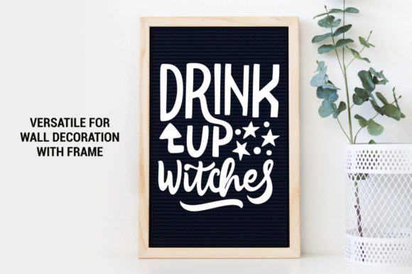 Download Free Drink Up Witches Graphic By Kreasari Creative Fabrica for Cricut Explore, Silhouette and other cutting machines.