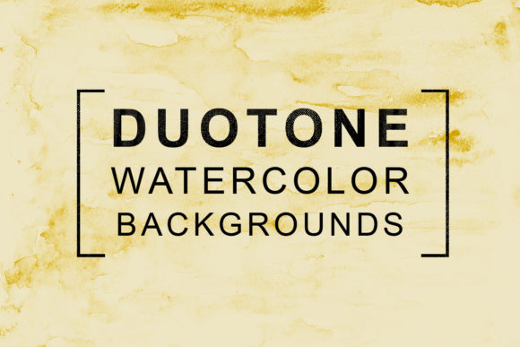 Print on Demand: Duotone Watercolor Backgrounds Graphic Backgrounds By freezerondigital