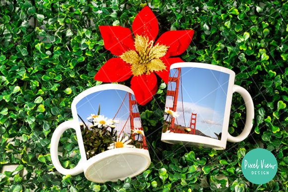 Download Free Dye Sublimation Couple Mug Mock Up Graphic By Pixel View Design for Cricut Explore, Silhouette and other cutting machines.