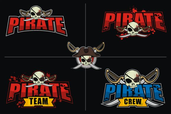 Print on Demand: E Sport Logo Bundle - Pirate Theme Grafik Logos von azkaryzki