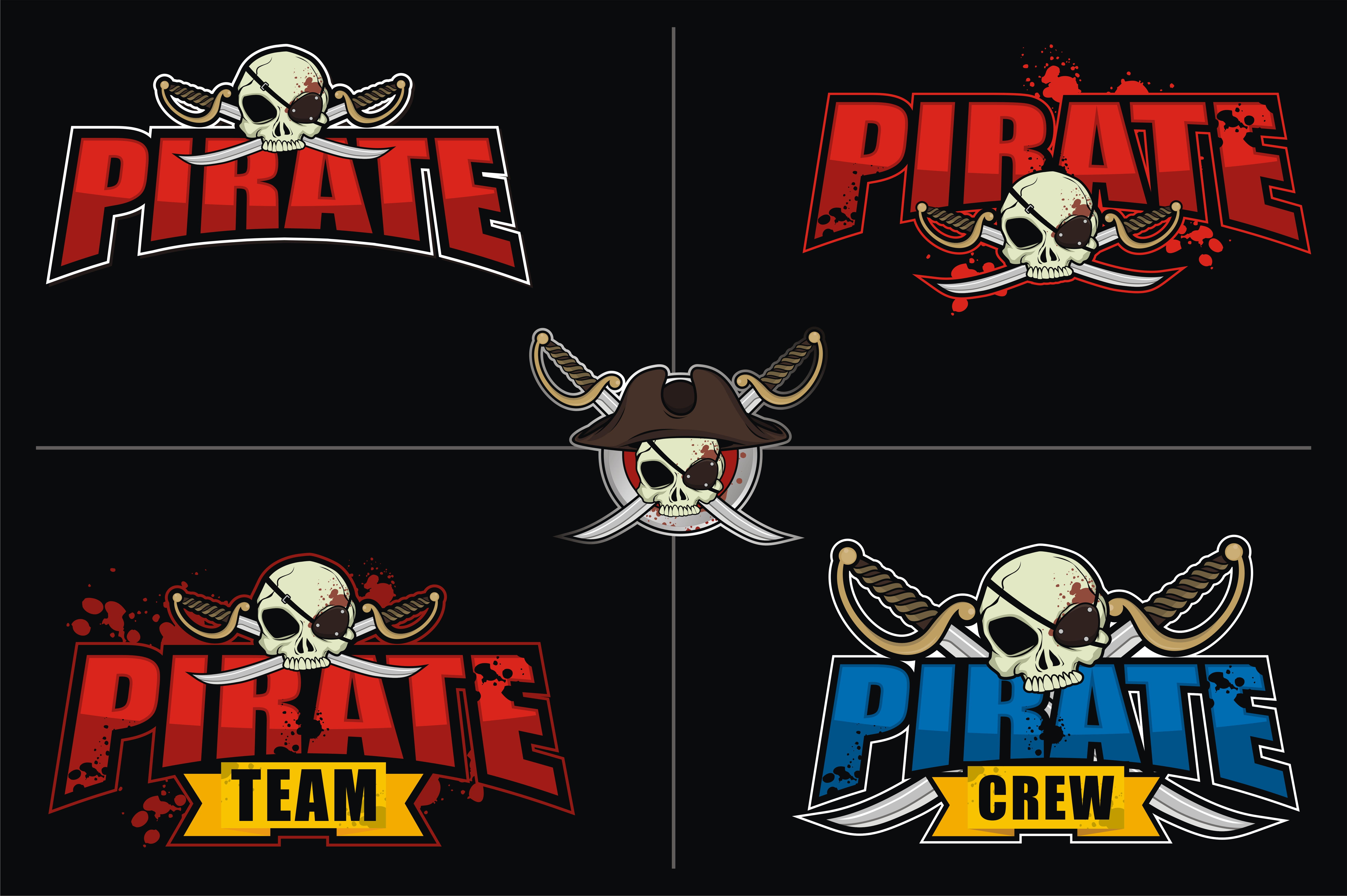 Download Free E Sport Logo Bundle Pirate Theme Graphic By Azkaryzki for Cricut Explore, Silhouette and other cutting machines.