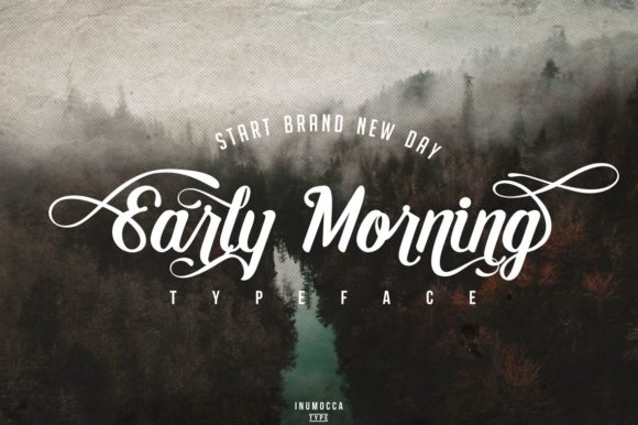 Print on Demand: Early Morning Script & Handwritten Font By inumocca_type