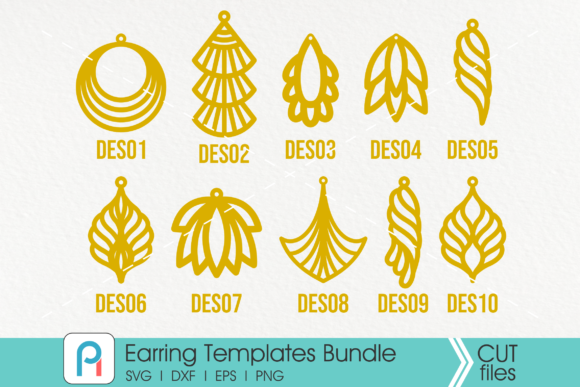 Earrings Template Svg Graphic Crafts By Pinoyartkreatib - Image 2
