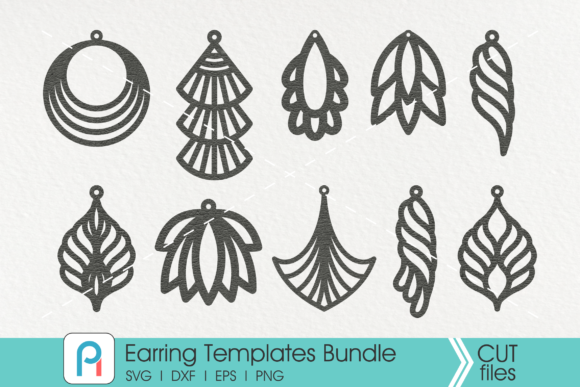 Earrings Template Svg Graphic Crafts By Pinoyartkreatib - Image 1