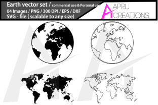 Download Free Earth Earth Silhouette Graphic By Aparnastjp Creative Fabrica for Cricut Explore, Silhouette and other cutting machines.