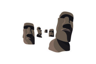 Easter Island Heads Craft Design By Creative Fabrica Crafts