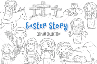 Print on Demand: Easter Story Digital Stamps Graphic Illustrations By Keepinitkawaiidesign