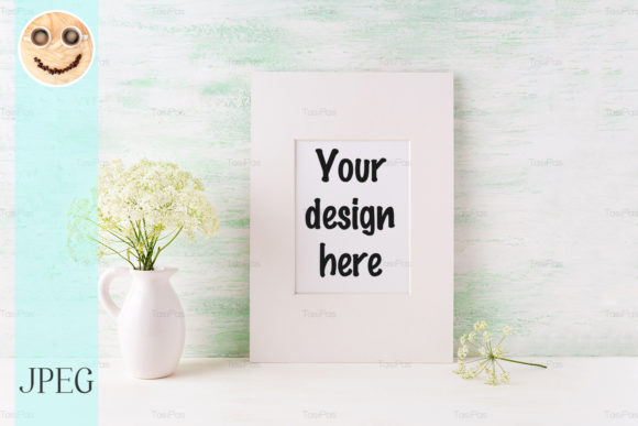 Print on Demand: Easy White Frame Mockup Graphic Product Mockups By TasiPas