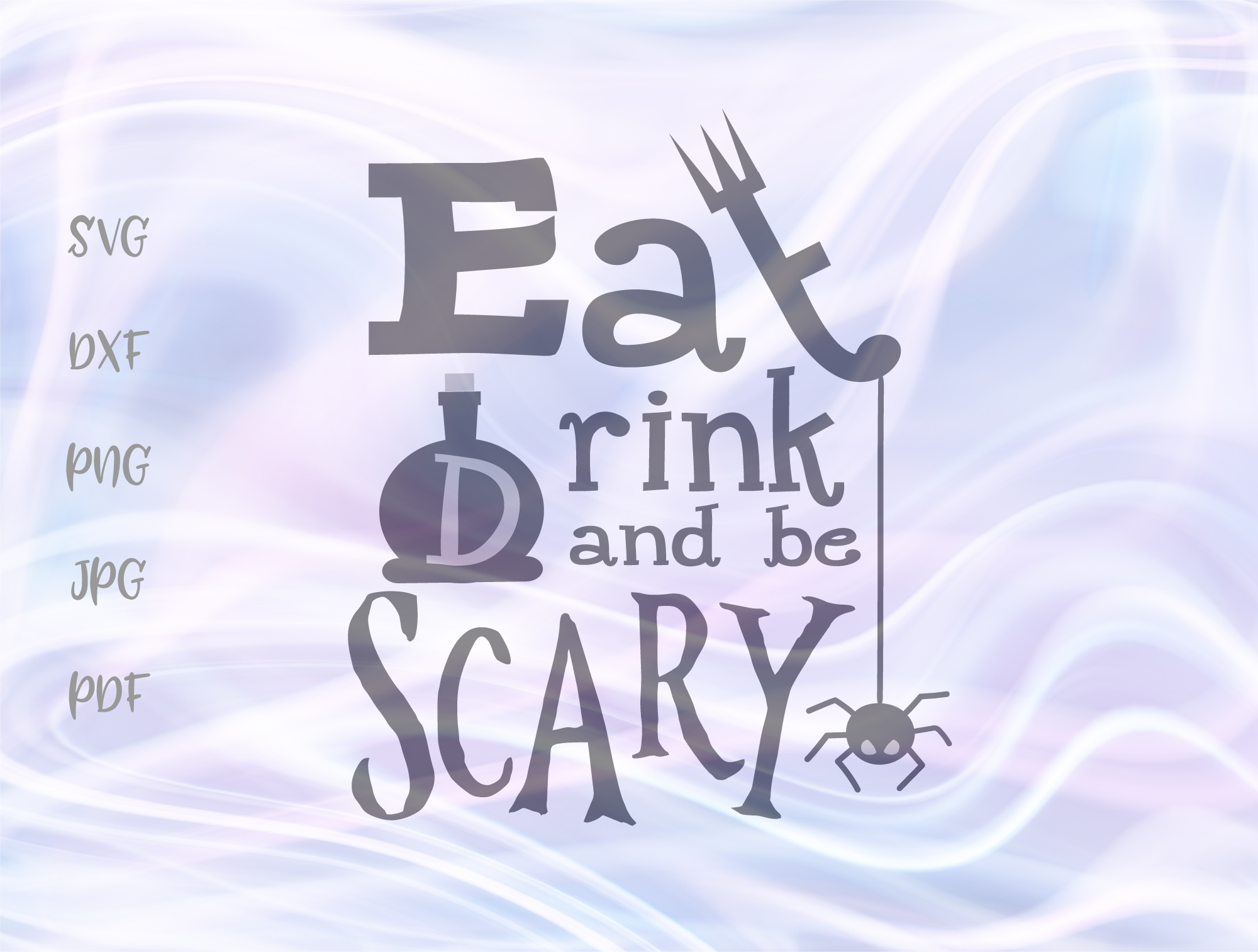 Download Free Eat Drink Be Scary Happy Halloween Graphic By Digitals By Hanna for Cricut Explore, Silhouette and other cutting machines.