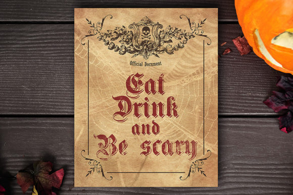 Eat Drink and Be Scary Graphic Crafts By danieladoychinovashop