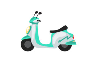 Electric Scooter Craft Design By Creative Fabrica Crafts