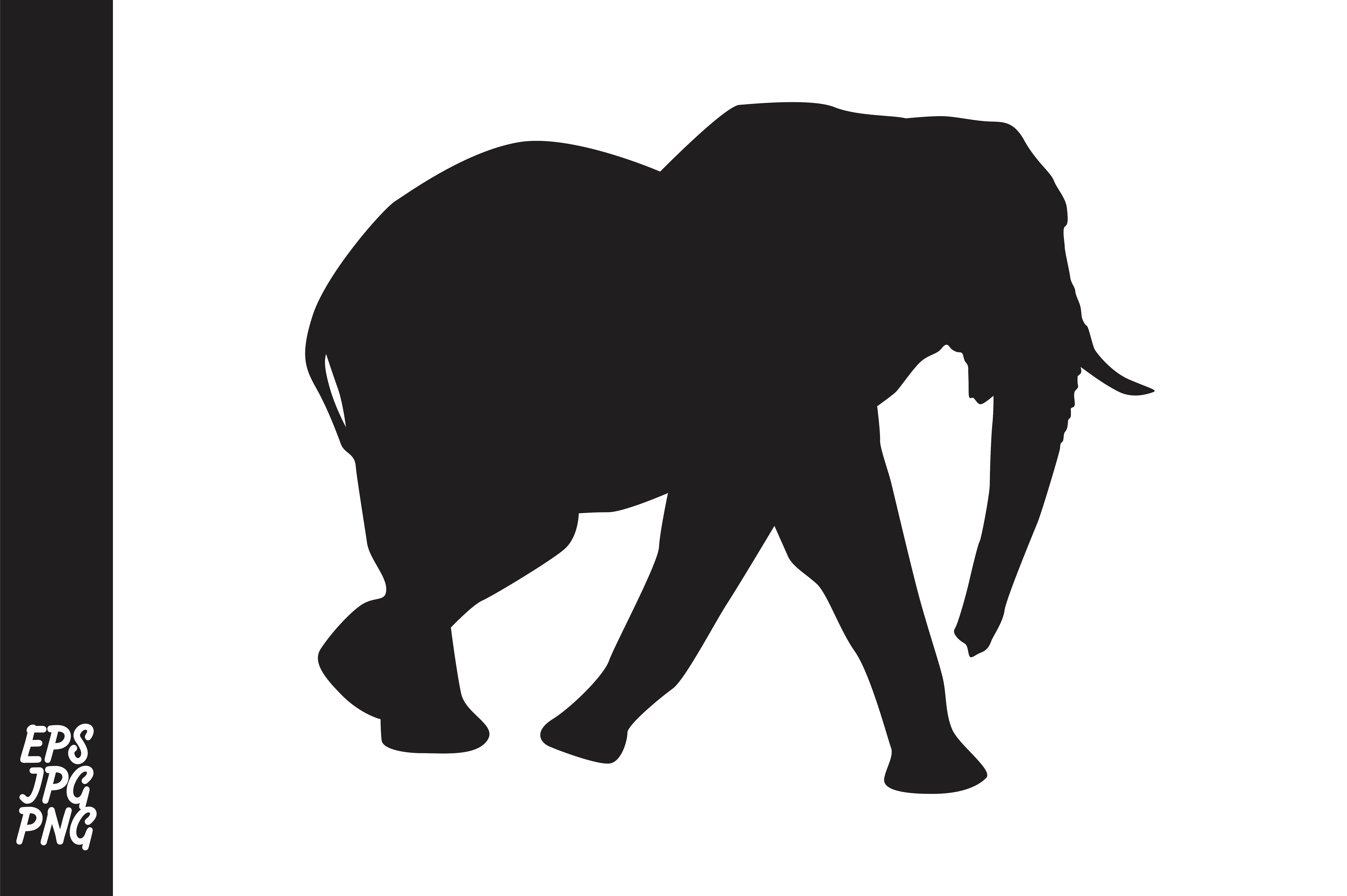 Download Free Elephant Silhouette Graphic By Arief Sapta Adjie Creative Fabrica for Cricut Explore, Silhouette and other cutting machines.