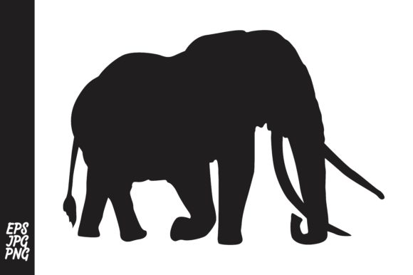Print on Demand: Elephant Silhouette Graphic Crafts By Arief Sapta Adjie - Image 1