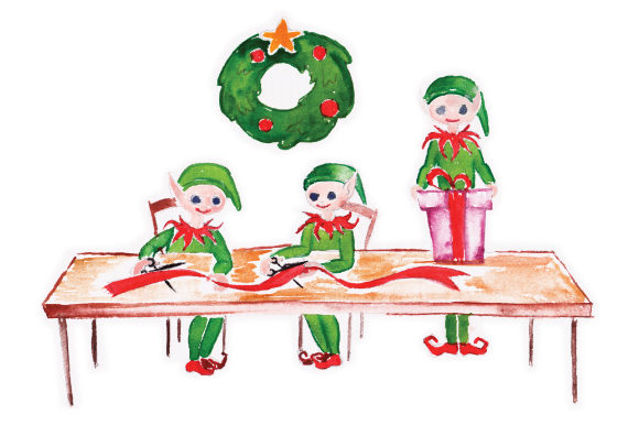 Download Free Elfs In Workshop Cutting Ribbon Svg Cut File By Creative Fabrica for Cricut Explore, Silhouette and other cutting machines.