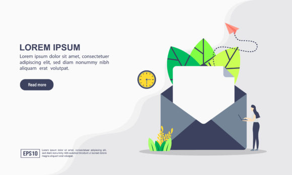 Email Marketing Landing Page Template Graphic Graphic Templates By efosstudio