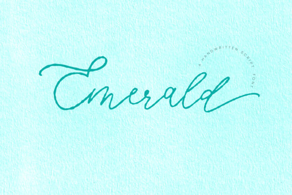Print on Demand: Emerald Script & Handwritten Font By Primafox Design