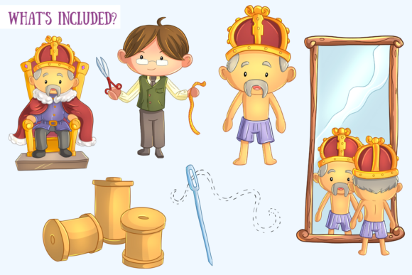 Print on Demand: Emperor's New Clothes Clip Art Graphic Illustrations By Keepinitkawaiidesign - Image 2