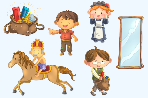 Print on Demand: Emperor's New Clothes Clip Art Graphic Illustrations By Keepinitkawaiidesign - Image 3