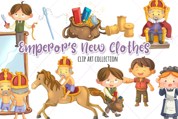 Download Free Emperor S New Clothes Clip Art Graphic By Keepinitkawaiidesign for Cricut Explore, Silhouette and other cutting machines.