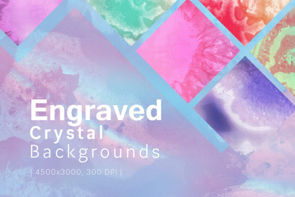 Print on Demand: Engraved Crystal Backgrounds Graphic Backgrounds By freezerondigital
