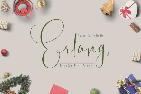 Print on Demand: Erlang Script & Handwritten Font By Polem - Image 2