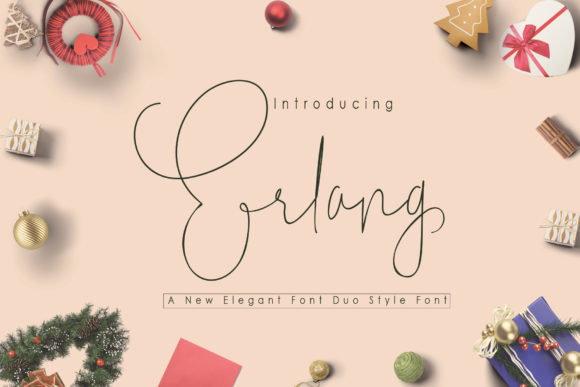 Print on Demand: Erlang Script & Handwritten Font By Polem