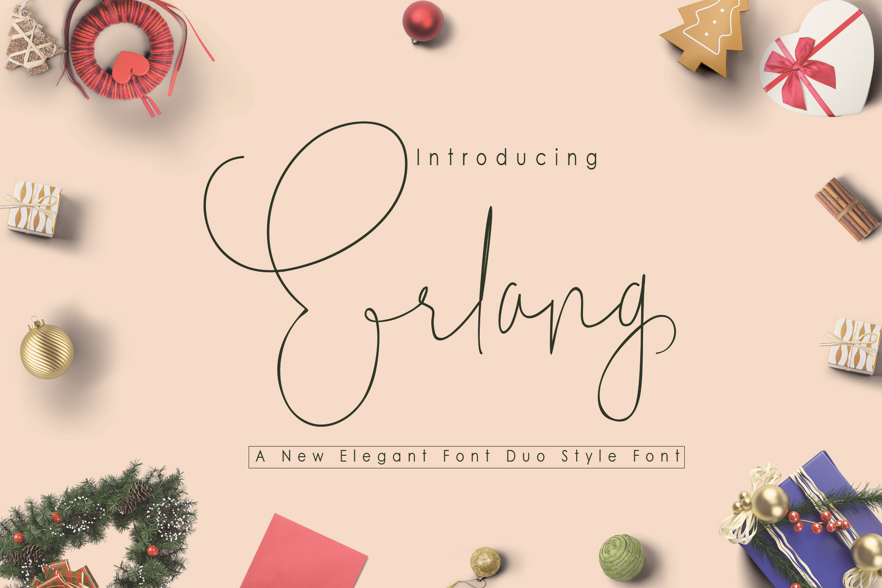 Download Free Erlang Font By Polem Creative Fabrica for Cricut Explore, Silhouette and other cutting machines.