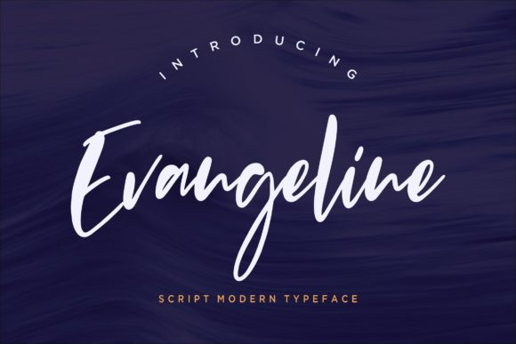 Print on Demand: Evangeline Script & Handwritten Font By CreatypeStudio