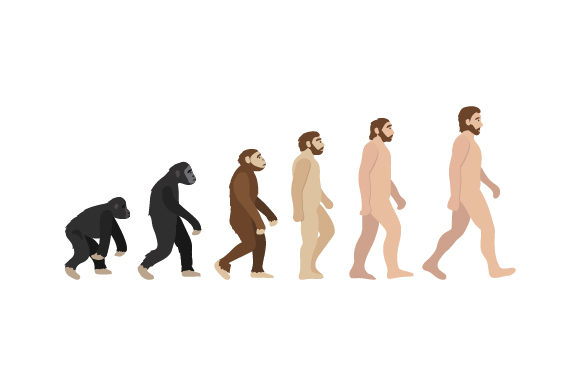 Evolution Characters. Ape-human Designs & Drawings Craft Cut File By Creative Fabrica Crafts - Image 1