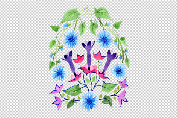 Print on Demand: Exotic Ornament Watercolor Graphic Illustrations By MyStocks - Image 2