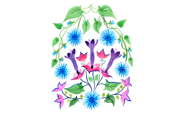 Print on Demand: Exotic Ornament Watercolor Graphic Illustrations By MyStocks