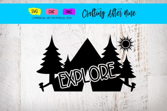 Print on Demand: Explore Camping Design Graphic Crafts By Crafting After Nine