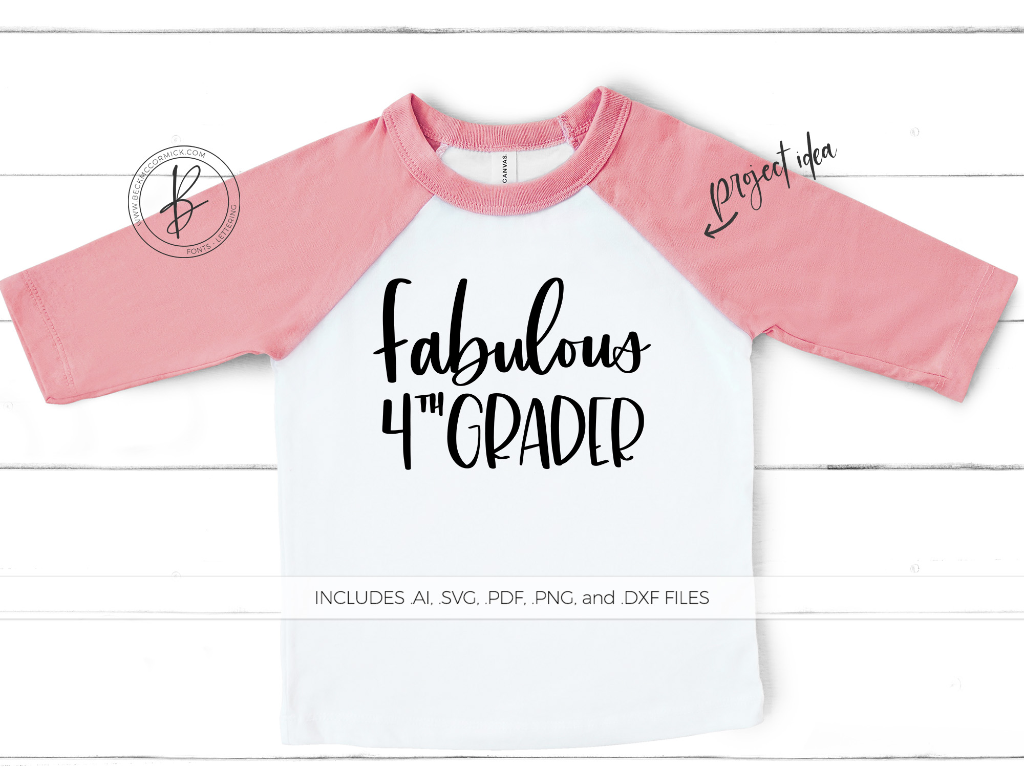 Download Free Fabulous Fourth Grader Graphic By Beckmccormick Creative Fabrica for Cricut Explore, Silhouette and other cutting machines.