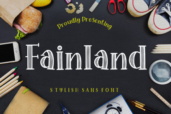 Print on Demand: Fainland Script & Handwritten Font By CreatypeStudio