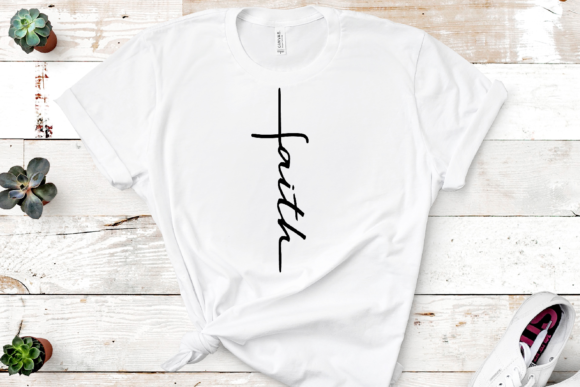 Print on Demand: Faith Word Cross Graphic Crafts By Mockup Venue