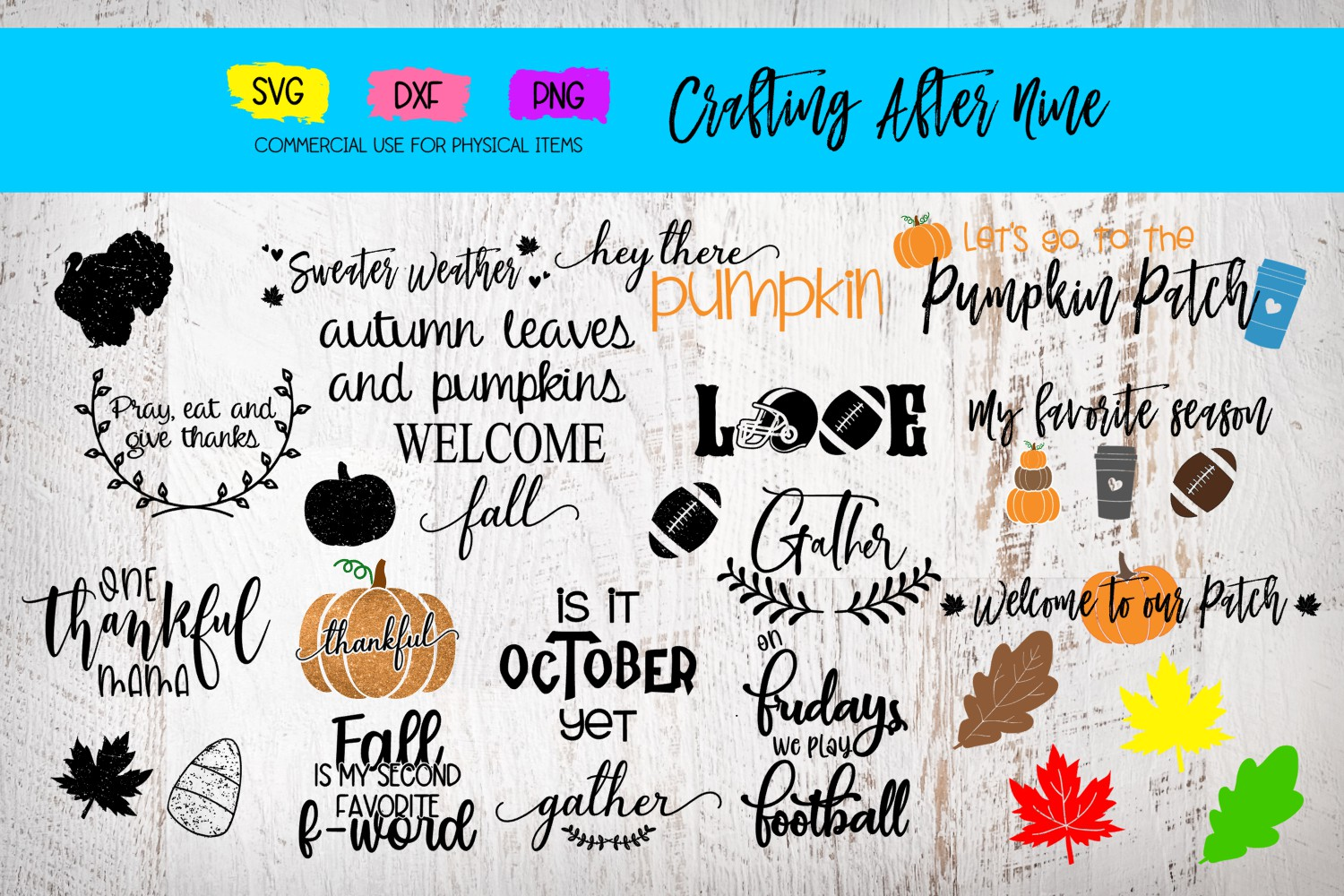Download Free Fall Bundle Pumpkin Patch 20 Designs Graphic By Crafting After for Cricut Explore, Silhouette and other cutting machines.