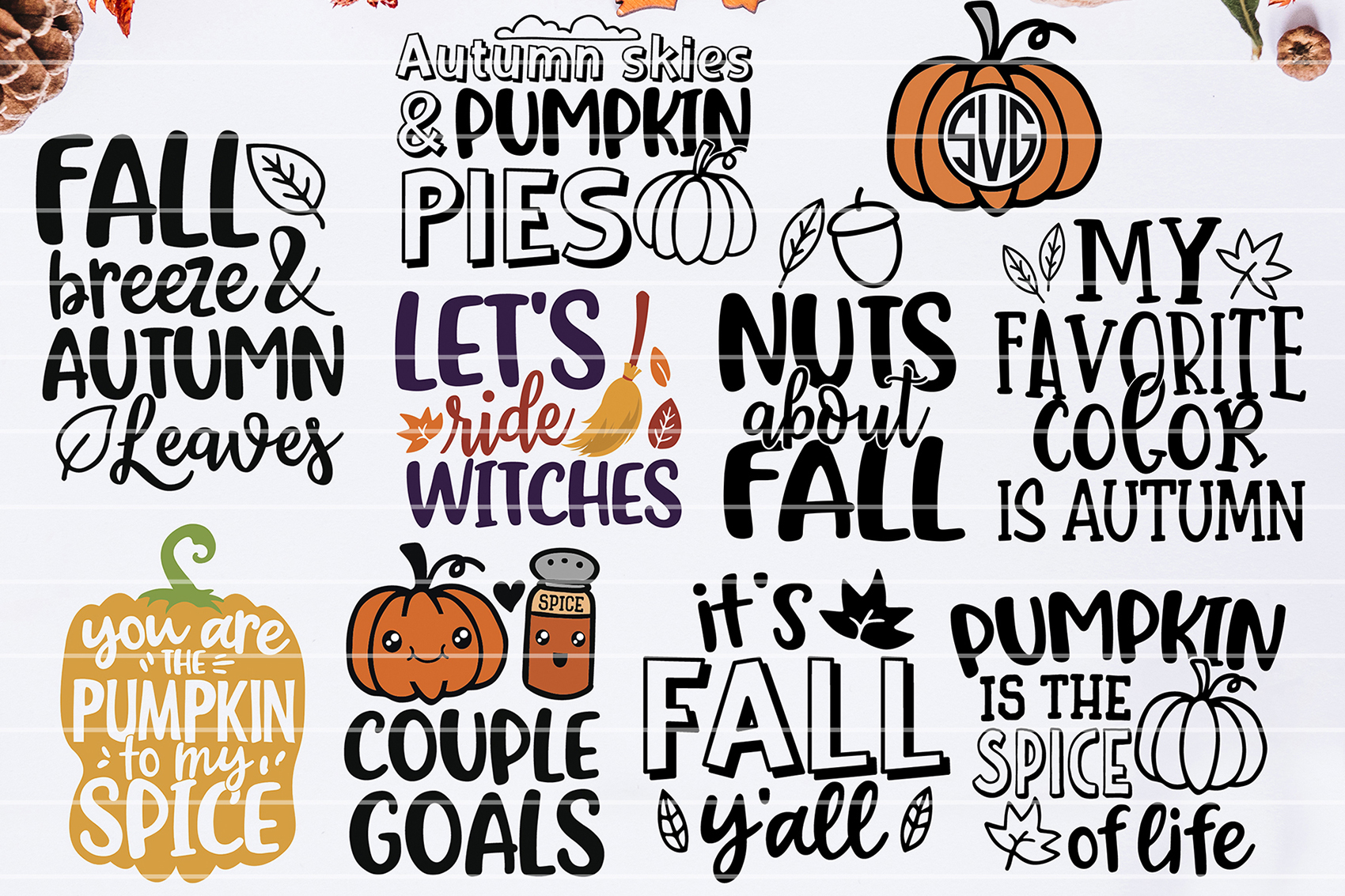 Download Free Fall Bundle Graphic By Seventhheaven Studios Creative Fabrica for Cricut Explore, Silhouette and other cutting machines.