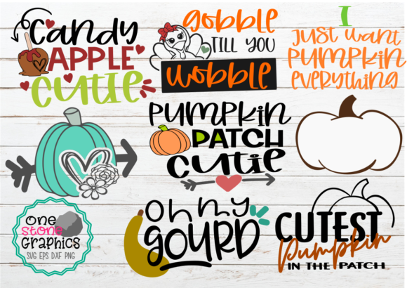Fall Bundle Graphic Crafts By OneStoneGraphics