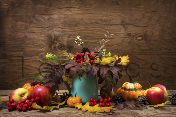 Fall Centerpiece with Rowan in Turquoise Graphic By TasiPas