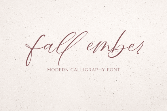 Print on Demand: Fall Ember Script & Handwritten Font By BeckMcCormick